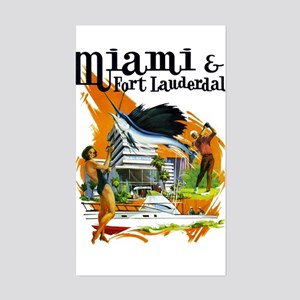 Miami & Fort Lauderdale Florida Sticker