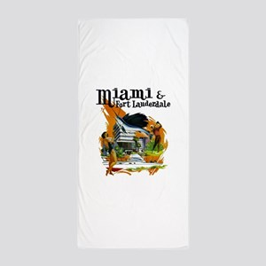 Miami & Fort Lauderdale Florida Beach Towel