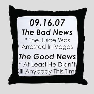 In The News AGAIN Throw Pillow