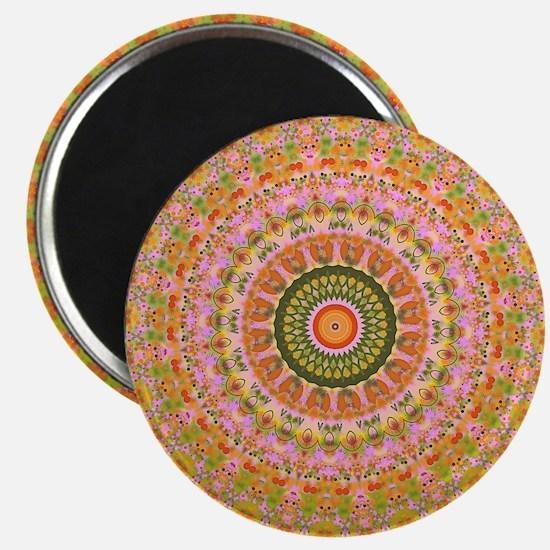 Happy Hippy Mandala Magnets