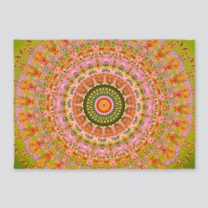 Happy Hippy Mandala 5'x7'Area Rug