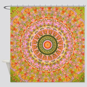 Happy Hippy Mandala Shower Curtain