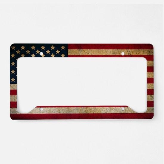 Cool Texan flag License Plate Holder