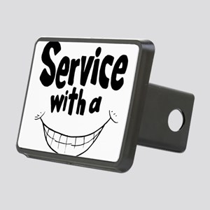 Service with a smile Rectangular Hitch Cover