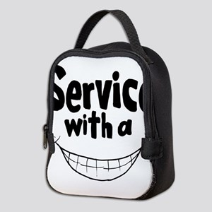 Service with a smile Neoprene Lunch Bag