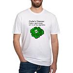 Crohn's Disease Veggie Fitted T-Shirt