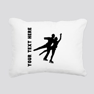 Figure Skaters (Custom) Rectangular Canvas Pillow
