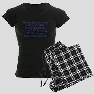 Naughty File Women's Dark Pajamas