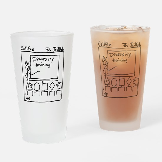 Cute Corrections training Drinking Glass