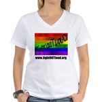 Fight OUT Loud Women's V-Neck T-Shirt