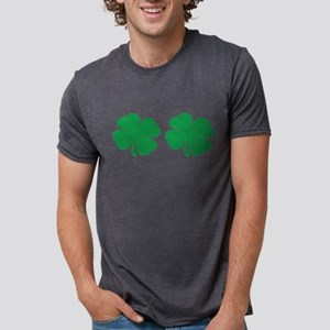 shamrock boobs Mens Tri-blend T-Shirt
