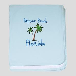Neptune Beach Florida baby blanket