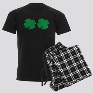 shamrock boobs Men's Dark Pajamas