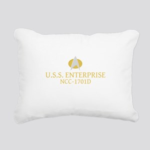 Star Trek: TNG Ship Name Rectangular Canvas Pillow