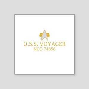"Star Trek: VOY Ship Name Square Sticker 3"" x 3"""