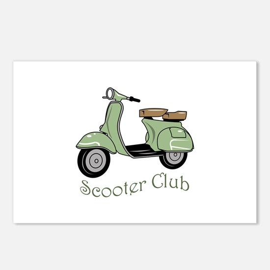 Scooter Club Postcards (Package of 8)