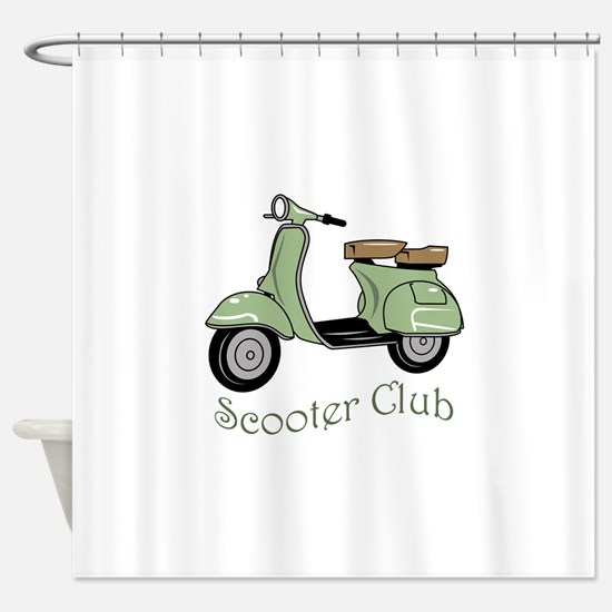 Scooter Club Shower Curtain