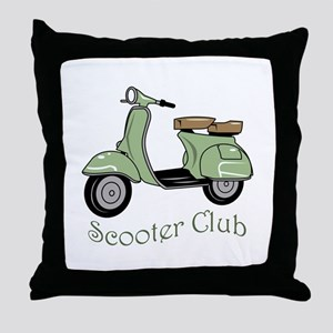 Scooter Club Throw Pillow