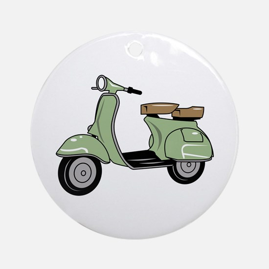 Motor Scooter Round Ornament
