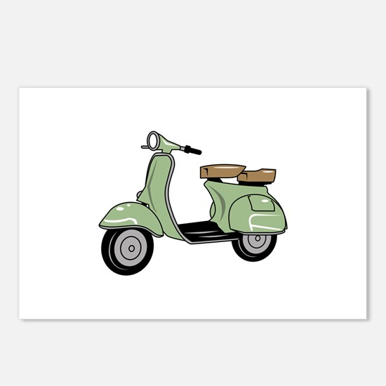 Motor Scooter Postcards (Package of 8)