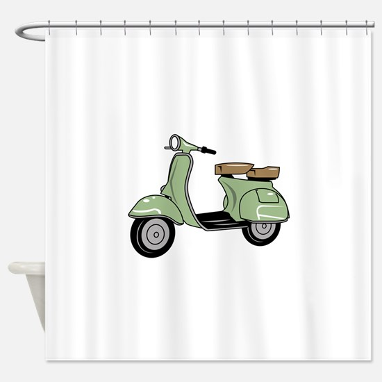 Motor Scooter Shower Curtain