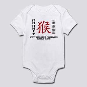 Chinese Zodiac Monkey Characterist Infant Bodysuit