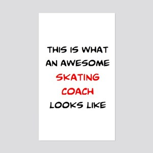awesome skating coach Sticker (Rectangle)