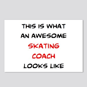 awesome skating coach Postcards (Package of 8)