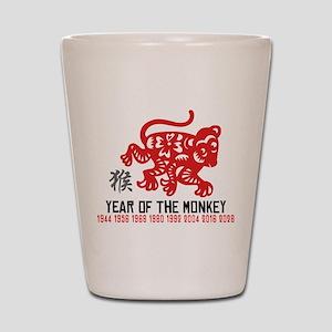 Chinese Zodiac Monkey Years Shot Glass