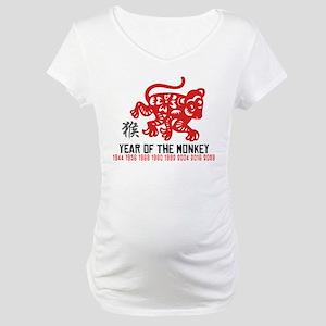 Chinese Zodiac Monkey Years Maternity T-Shirt