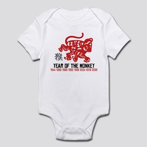 Chinese Zodiac Monkey Years Infant Bodysuit