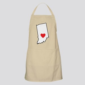 I Heart Indiana State Outline Apron