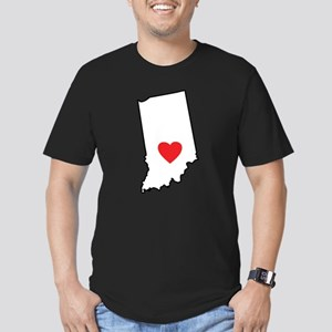 I Heart Indiana State Outline T-Shirt
