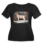 Labrador Women's Plus Size Scoop Neck Dark T-Shirt