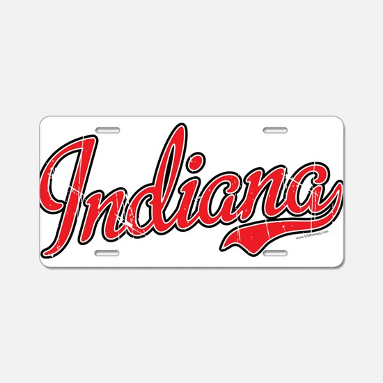Indiana Vintage Aluminum License Plate
