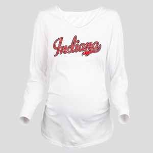 Indiana Vintage Long Sleeve Maternity T-Shirt