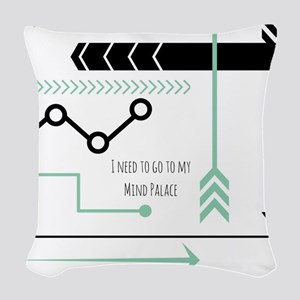 Mind Palace Woven Throw Pillow