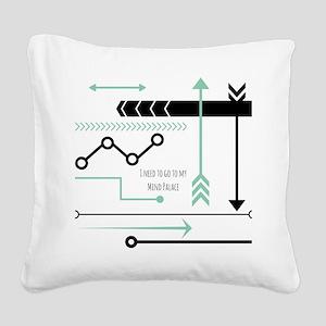 Mind Palace Square Canvas Pillow