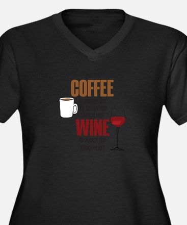 Unique Funny wine Women's Plus Size V-Neck Dark T-Shirt