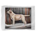 Yellow Labrador Retriever in Snow Pillow Sham