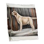 Yellow Labrador Retriever In Burlap Throw Pillow