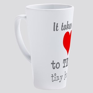 Teachers Heart 17 oz Latte Mug