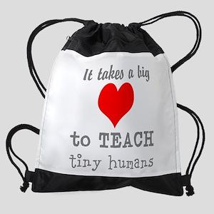 Teachers Heart Drawstring Bag
