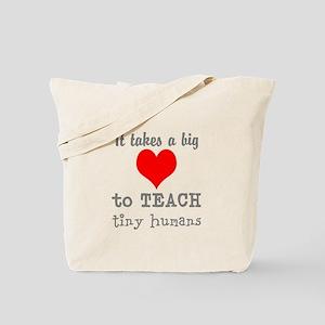 Teachers Heart Tote Bag