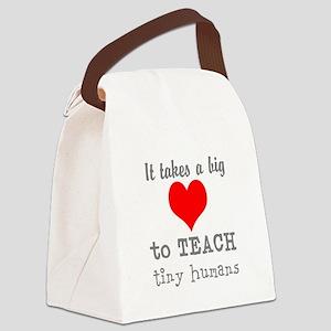Teachers Heart Canvas Lunch Bag