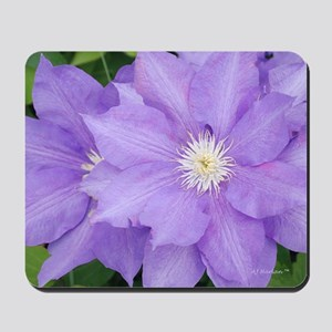 Purple Clematis Mousepad