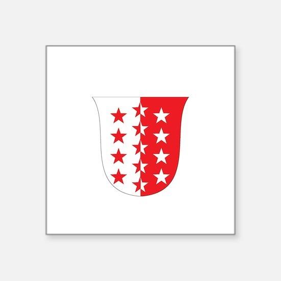 "Funny German crest Square Sticker 3"" x 3"""