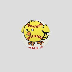 Softball Chick Mini Button