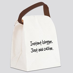 Just add coffee. Canvas Lunch Bag