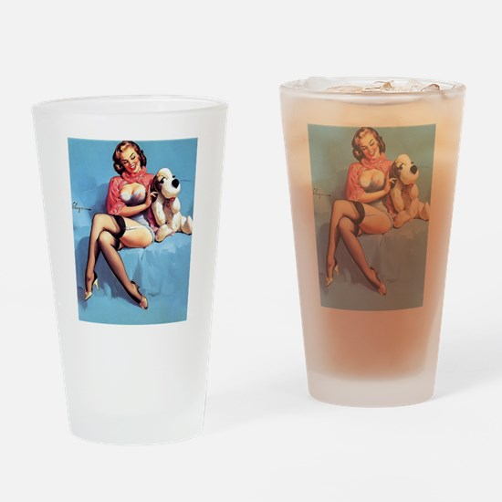 Cute Pinup Drinking Glass